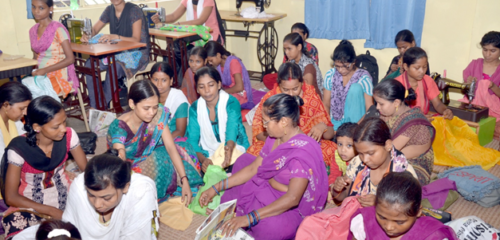Sewing and Stitching – the number of trained girls till date is around 3000